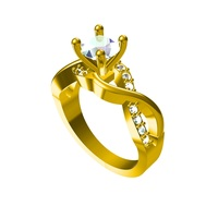 Small Engagement Ring 3D CAD Model In STL Format 3D Printing 149116