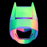 Small Armored Batman Helmet BvS DOJ 3D Printing 149204