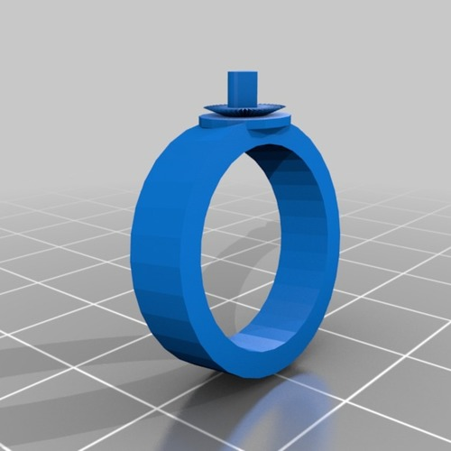 bright heart ring 3D Print 14921