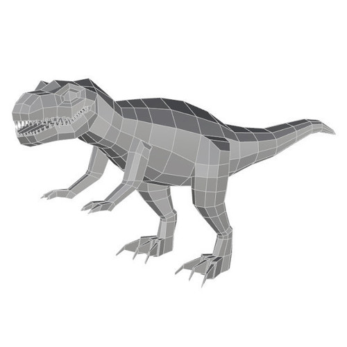 Low Poly T Rex Model_ Cadiaan 3D Print 149213