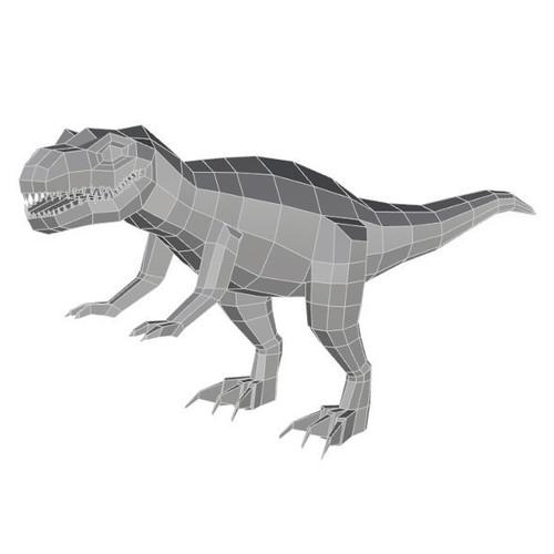 Low Poly T Rex Model Cadiaan 3D Print 149213