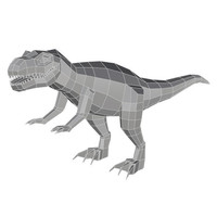 Small Low Poly T Rex Model_ Cadiaan 3D Printing 149213