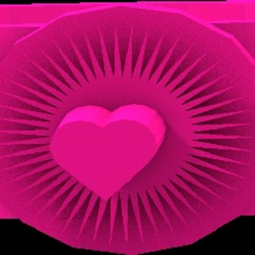 bright heart ring 3D Print 14922