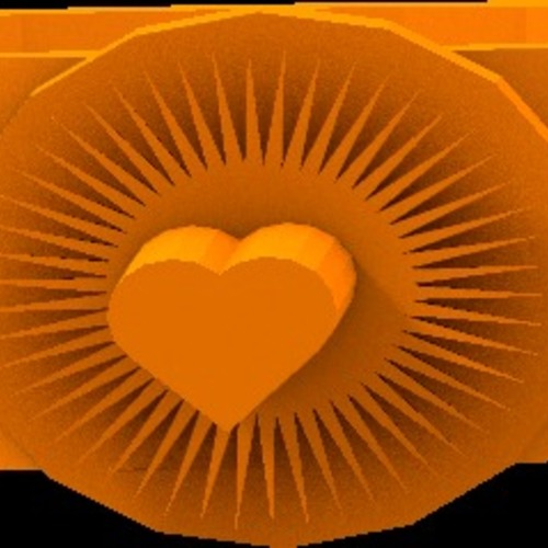 bright heart ring 3D Print 14923