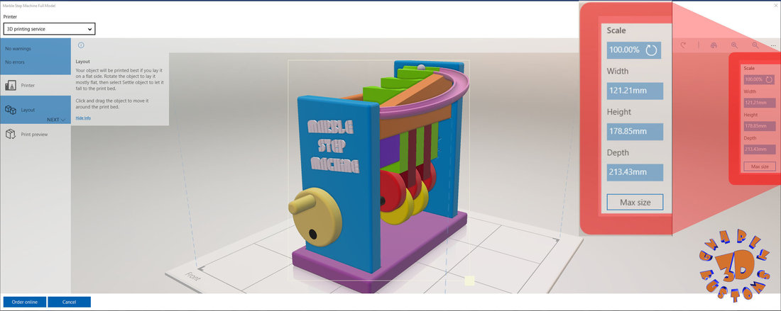 Marble Step Machine (Automata Toy) 3D Print 149230