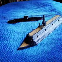 Small USS Monitor and CSS Virginia  3D Printing 149235