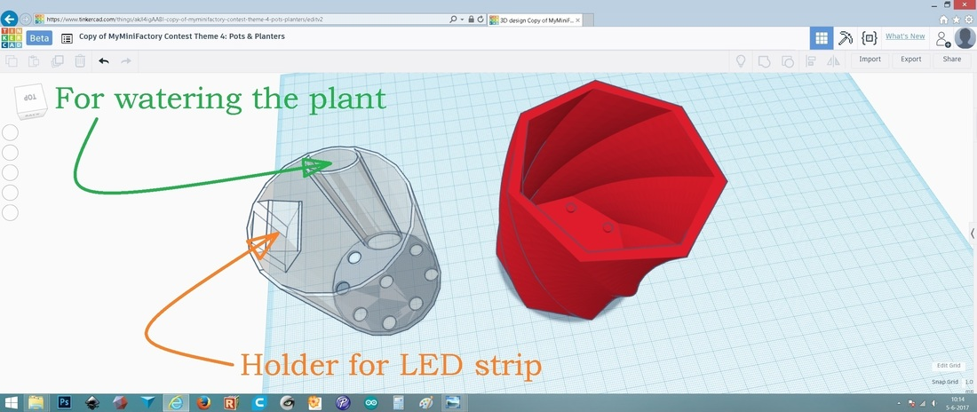 Shadow casting plant pot 3D Print 149266