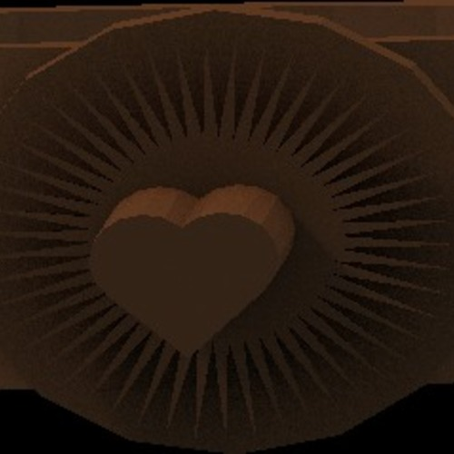 bright heart ring 3D Print 14927