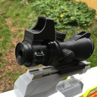 Small Nerf Gun Scope - ACOG Sight  3D Printing 149324
