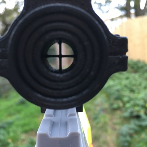 3d printed nerf gun scope acog sight by chris easton pinshape