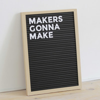 Small Letter Board - Fully 3D Printed 3D Printing 149365