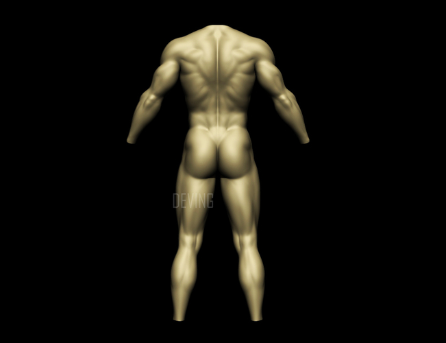 Batman muscle body for Muscle Suit Cosplay 3D Print 149521