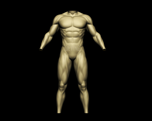 Batman muscle body for Muscle Suit Cosplay 3D Print 149522
