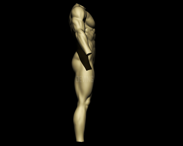 Batman muscle body for Muscle Suit Cosplay 3D Print 149523