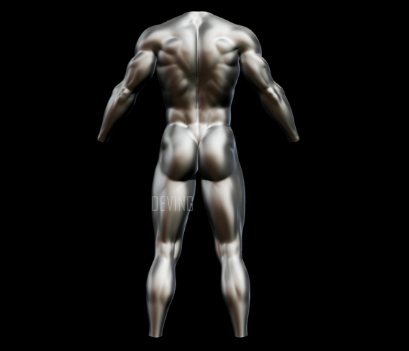 Batman muscle body for Muscle Suit Cosplay 3D Print 149524