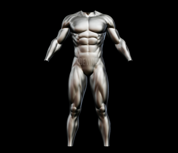 Batman muscle body for Muscle Suit Cosplay 3D Print 149525