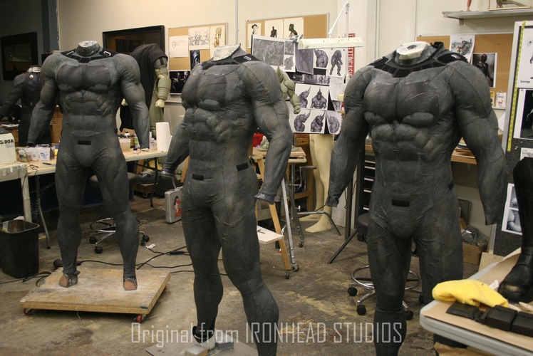 Batman muscle body for Muscle Suit Cosplay 3D Print 149527