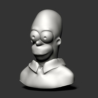 Small Homer Bust 3D Printing 149530
