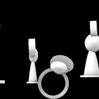Small pawn jewelry set 3D Printing 14961