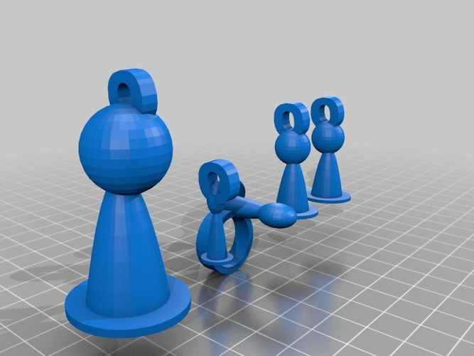 pawn jewelry set 3D Print 14962