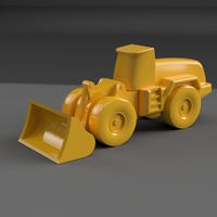 Small Wheel Loader 3D Printing 149753
