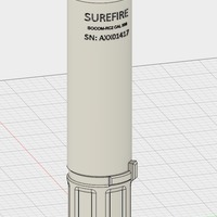 Small Airsoft Surefire 556 Supressor 3D Printing 149761