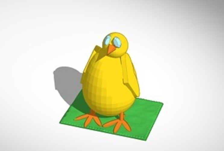 baby chick 3D Print 14978
