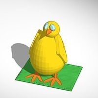 Small baby chick 3D Printing 14978