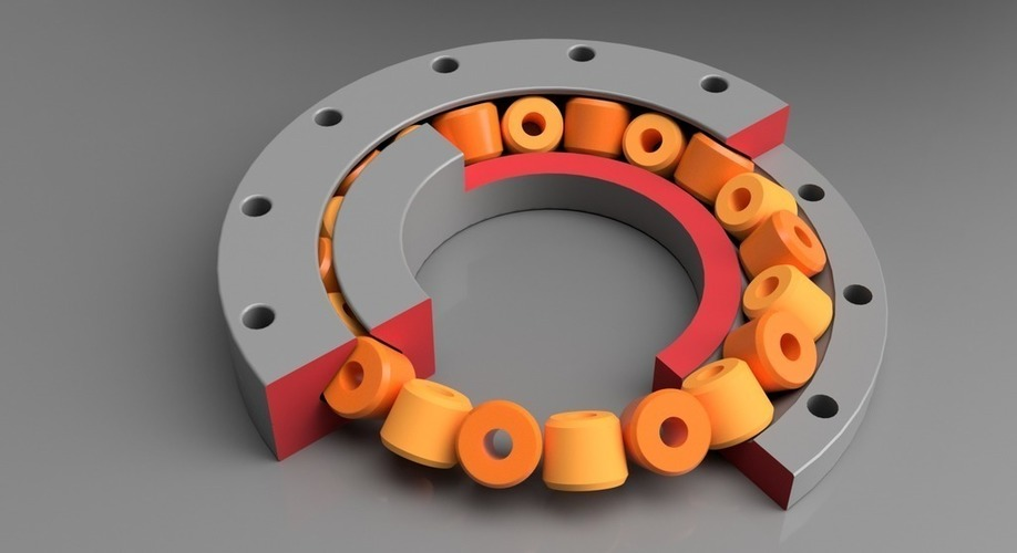 Slew Bearing, parametric Design with Fusion 360 3D Print 149813