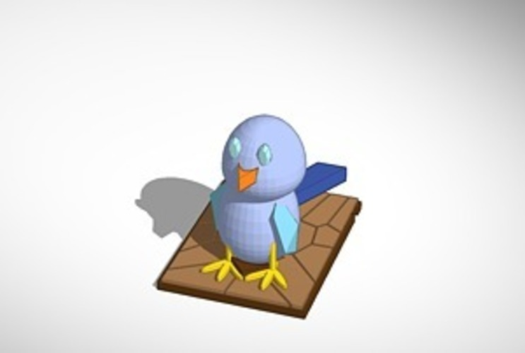 the blue bird 3D Print 14982
