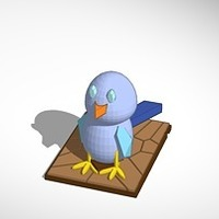 Small the blue bird 3D Printing 14982