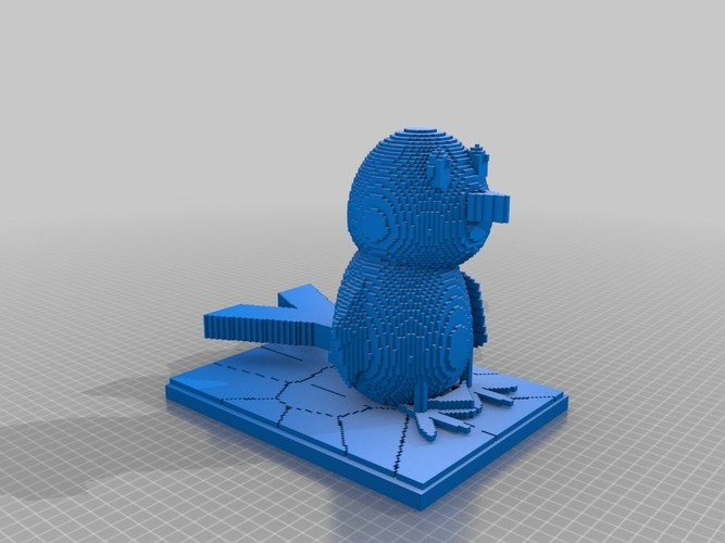 the blue bird 3D Print 14983