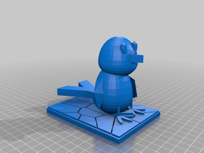 the blue bird 3D Print 14984