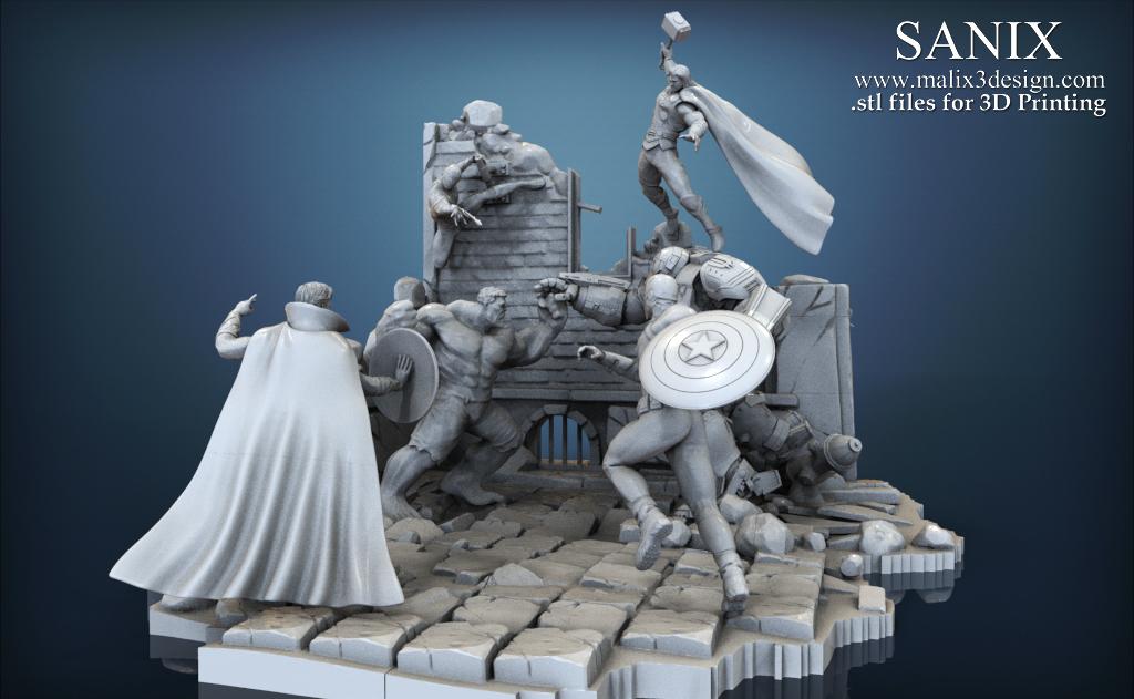 3D Printed Avenger Scene – Doctor Strange 3D Model for 3D Printing