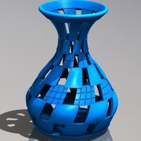 Small checker vase twisted 3D Printing 149863