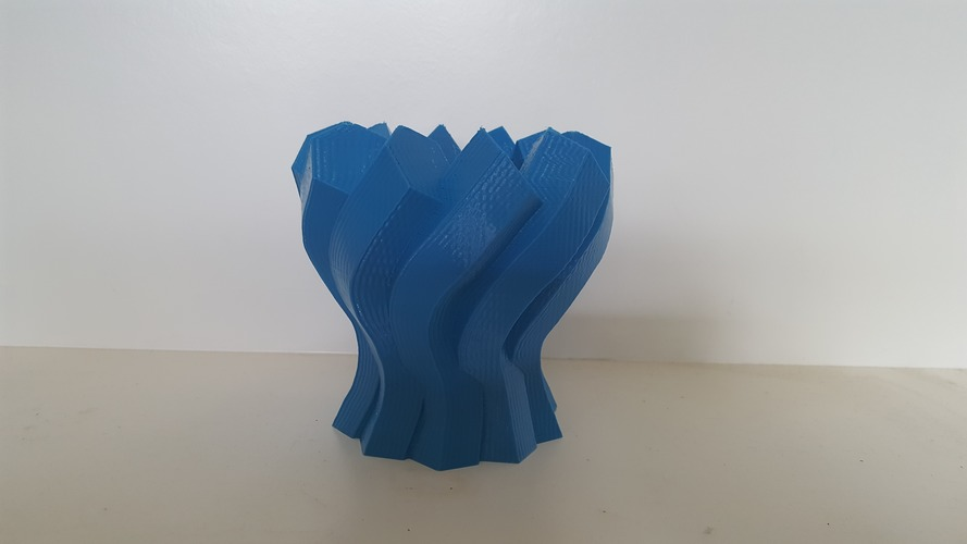 Twisted Hexagon Vase 3D Print 149963