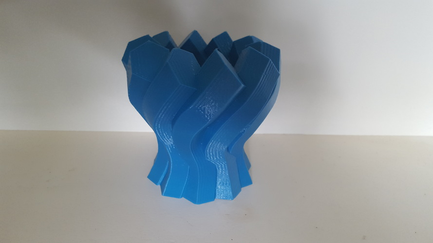 Twisted Hexagon Vase 3D Print 149964