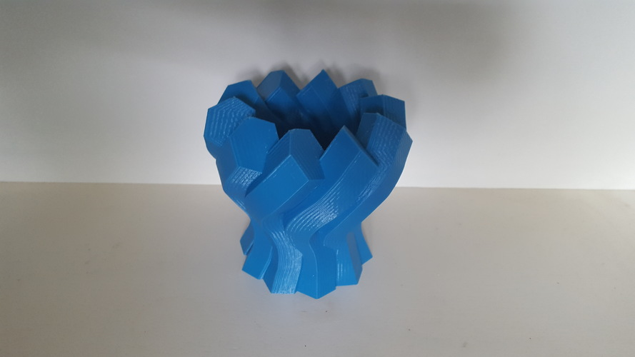 Twisted Hexagon Vase 3D Print 149965