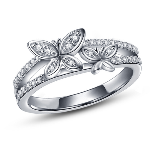 3D CAD Model Butterfly Design Ring In STL Format 3D Print 149974