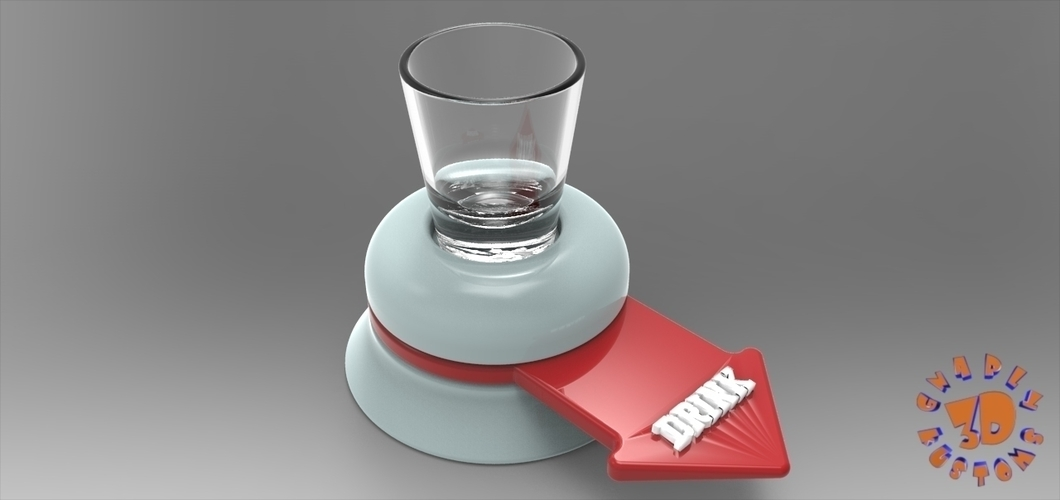 The Shot Glass Drinking Game Spinner - *FREE DOWNLOAD* 3D Print 150023