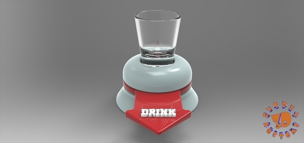 The Shot Glass Drinking Game Spinner - *FREE DOWNLOAD* 3D Print 150026