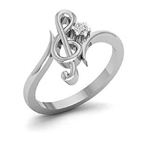 Exclusive 3D CAD Model For Treble Clef Design Ring 3D Print 150041