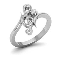 Small Exclusive 3D CAD Model For Treble Clef Design Ring 3D Printing 150041