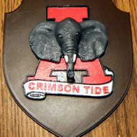 Small Alabama Crimson Tide Plaque 3D Printing 150225