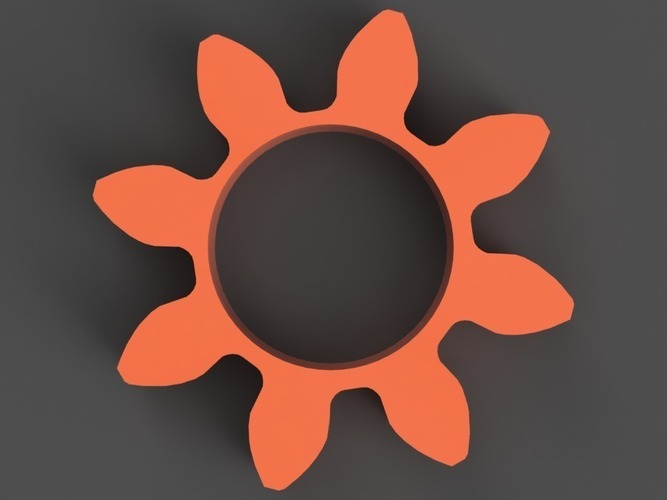 Gear/Flower Spinner 3D Print 150249