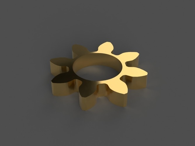 Gear/Flower Spinner 3D Print 150253