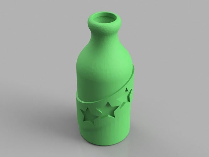 Booze Fighter Bottle and Badge 3D Print 150263
