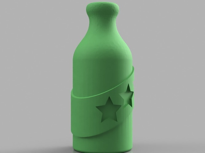 Booze Fighter Bottle and Badge 3D Print 150264