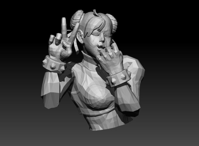 Chun Li (Street Fighter) 3D Print 150287