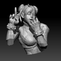 Small Chun Li (Street Fighter) 3D Printing 150287